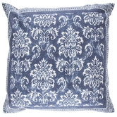 Muted Blue Damask Pillow Cover